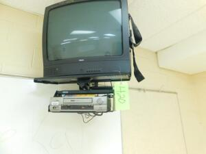 RCA TV and RCA VCR w/ Hanging Bracket