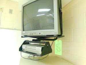 Sylvania TV and Emerson VCR w/ Hanging Bracket