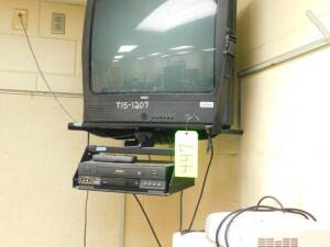 RCA TV and Toshiba VCR w/ Hanging Bracket