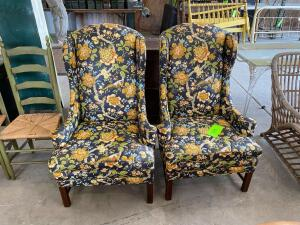 (2) Matching Cushioned Arm Chairs