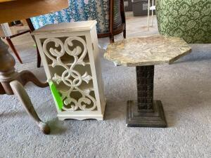 Small Knick Knack Cabinet and Pedestal Stand
