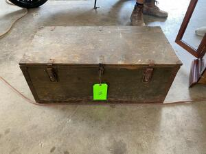 Small Vintage Trunk with Assorted Tools