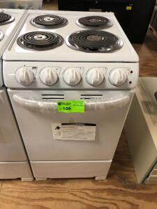 "Summit Appliance 20"" 2.3 cu.ft Electric Range in White"