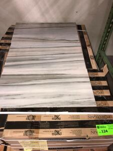 Premium Porcelain non-polished HD Lindell Celeste 20ish sq. ft. per box, approx 16 boxes cannot confirm condition of each piece of tile