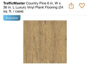 Traffic Master Country Pine 24ish sq. ft. per box, approx (24) boxes cannot confirm condition of each piece of tile