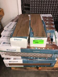 Lifeproof Toffee Wood 14.56ish sq. ft. per box, approx (20) boxes cannot confirm condition of each piece of tile