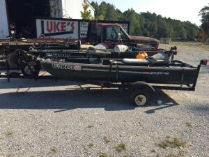 Coleman Ramx Crawdad Fishing boat with trailer