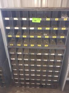 96-bin Storage Bin with Various contents