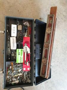 Tool Box with Misc Items, (3) Levels