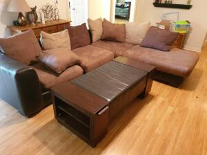 Living Room Furniture: Couch, Table, Chair