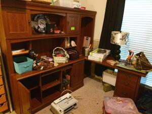 Desk (doesn't include personal items such as photos, personal papers, etc), WiFitness, lamps, decor, printer, etc.