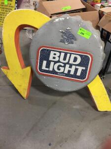 "Bud Light Foam Sign 43"" x 36"""