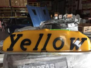 YELLOW Cab Light Cover