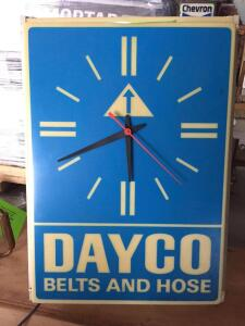 "Dayco Electric Light/Clock 14"" x 19"""