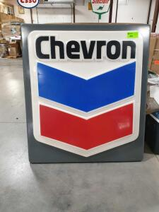 "Chevron Plastic Sign 48"" x 55"""