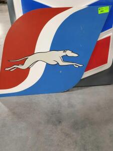 "Greyhound Metal Sign 38"" x 40"""