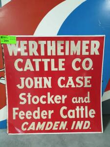 "Werthmire Cattle Metal Sign 28"" x 28"""
