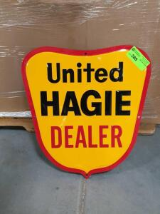 "United Hagie Metal Sign 22"" x 24"""