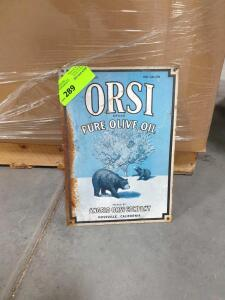 "Orsi Olive Oil Metal Sign 16"" x 11"""