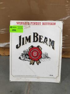 "Jim Beam Metal Sign 25"" x 20"""