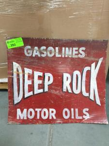"Deep Rock Motor Oil Metal Sign 16"" x 10"""