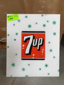 "7-Up Plexi-Glass Sign 24"" x 18"""