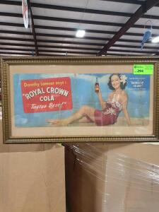 "Royal Crown Cola Framed Picture 33"" x 18"""