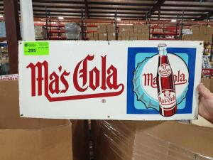 "Ma's Cola Metal Sign 28"" x 12"""