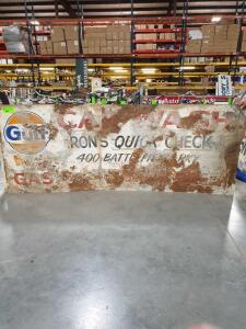 "Gulf Quickcheck Sign 96"" x 36"""