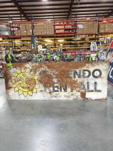 "Dependo Rental Metal Sign 96"" x 36"""