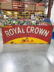"Royal Crown Cola Metal Sign 91"" x 36"""