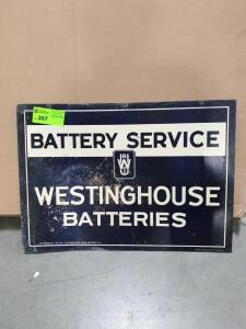 "Westinghouse 2 sided Metal Sign 28"" x 19"""