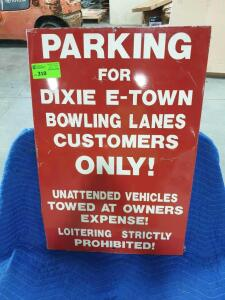 "Parking Metal Sign 40"" x 24"""