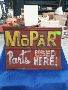 "Mopar Metal Sign 34"" x 26"""