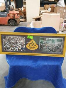 "Blue Angel Framed Picture 51"" x 18"""