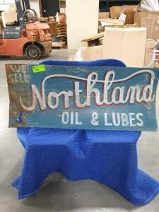 "Northern Oil Metal Sign 62"" x 23"""