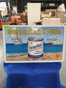 "Interlux Paint Metal Sign 47"" x 28"""