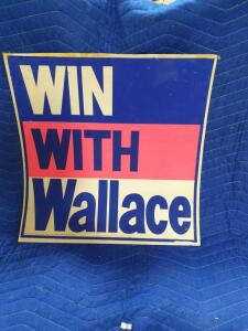 """Win With Wallace"" Paper Sign 24"" x 24"""