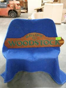 "Woodstock Wood Sign 47"" x 12"""