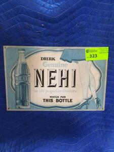 "Nehi Metal Sign 17"" x 11"""