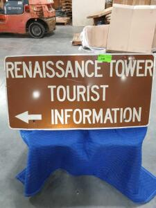 "Tourist Vintage Porcelain Sign 25"" x 48"""