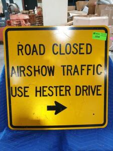 "Road Closed Vintage Porcelain Sign 30"" x 30"""