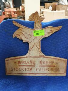 "Roller Roost Metal Sign 24"" x 25"""