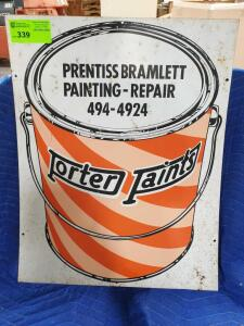 "Porter Paints Metal Sign 30"" x 23"""