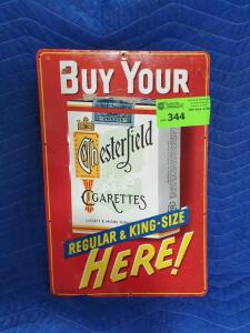 "Chesterfield Cigarette Metal Sign 16"" x 12"""