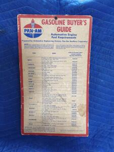 "Pan-Am Gas Buyer's Guide Cardboard 12"" x 24"""