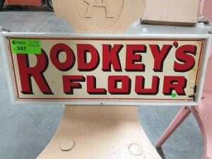 "Rodkeys Flour Wood Sign 10"" x 24"""