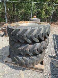 (3) Lull Forklift Wheels and Tires - Foam Filled - Solideal G-2