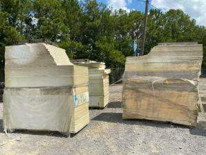 Large Lot - White Insulation Board - (4) Pallets