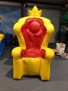 Birthday Throne Inflatable - Blowerless - 5x4x8.5